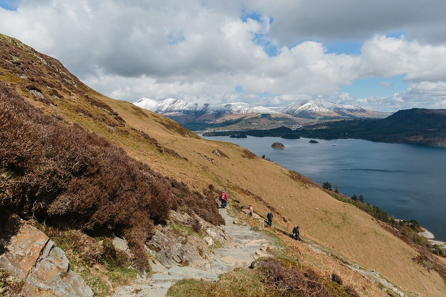 lake district travel photography walking down from catbells