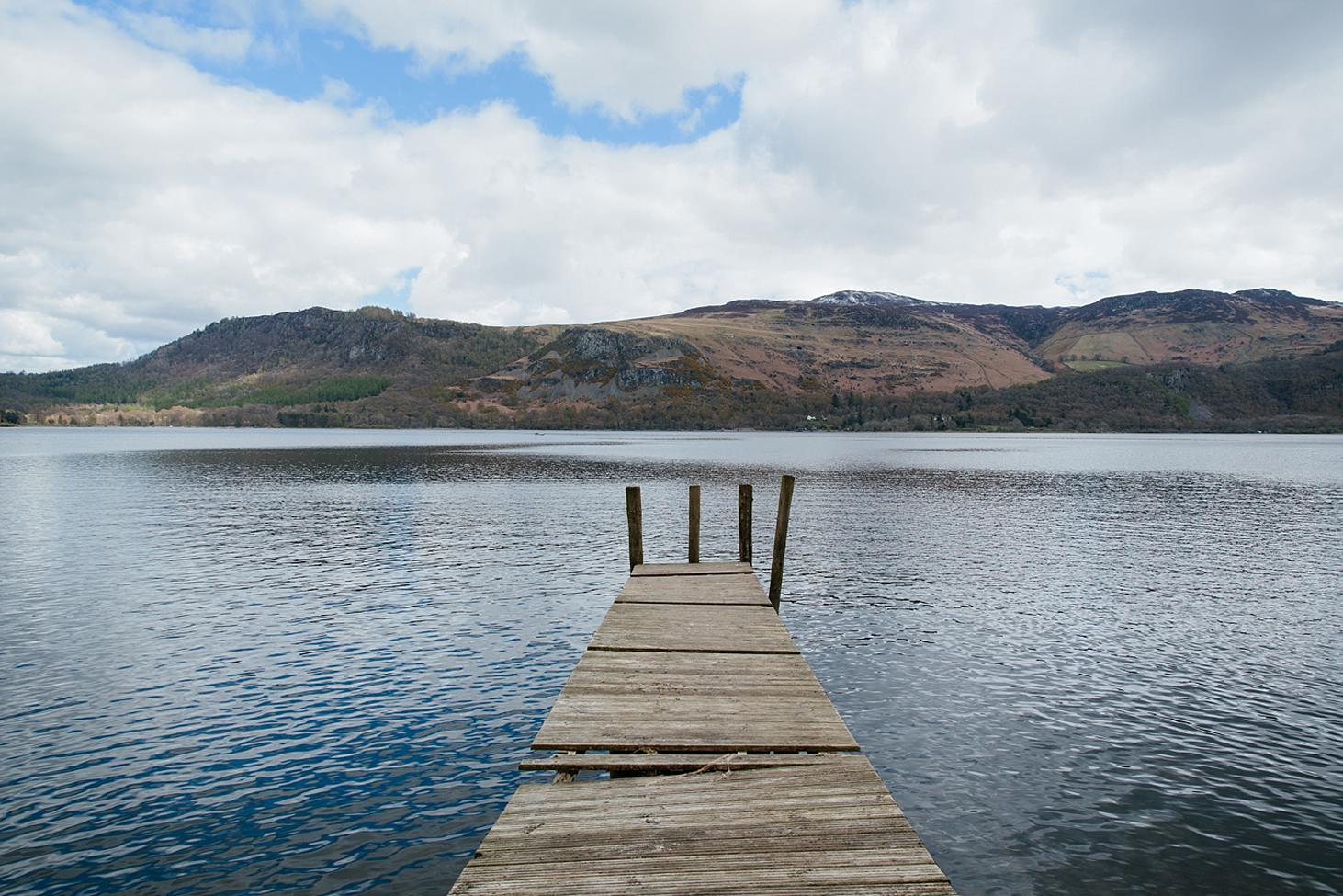 lake district travel photography boat jetty on lake