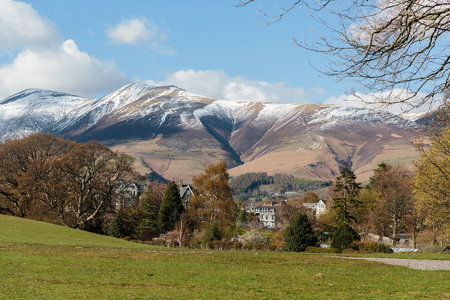 lake district travel photography view of hotel in keswick