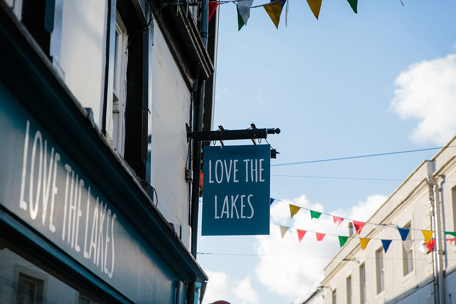 lake district travel photography shop sign