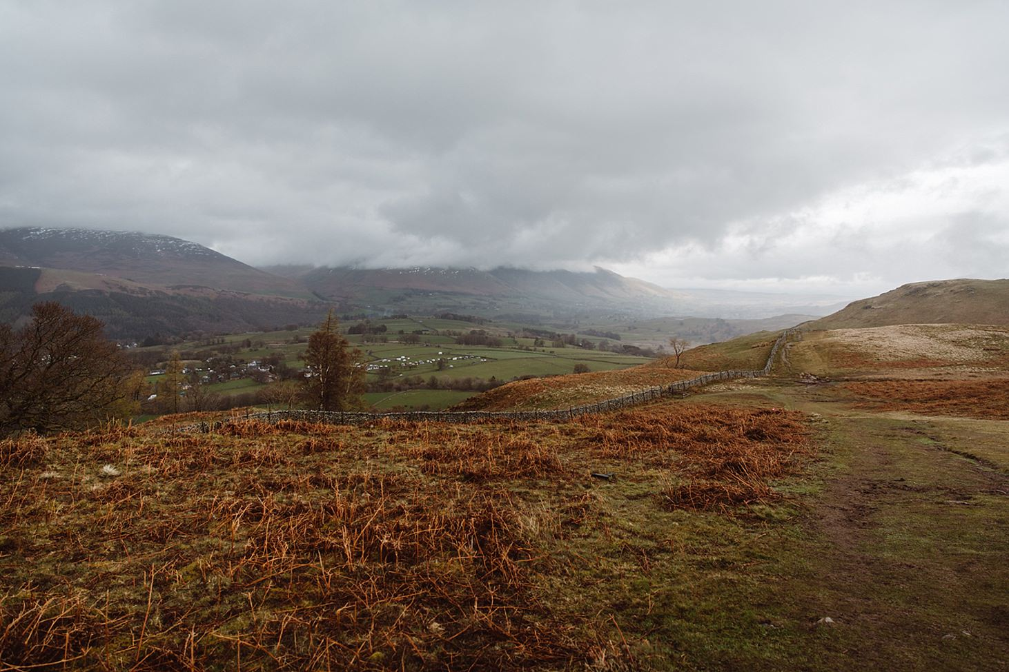 lake district travel photography fell in rain