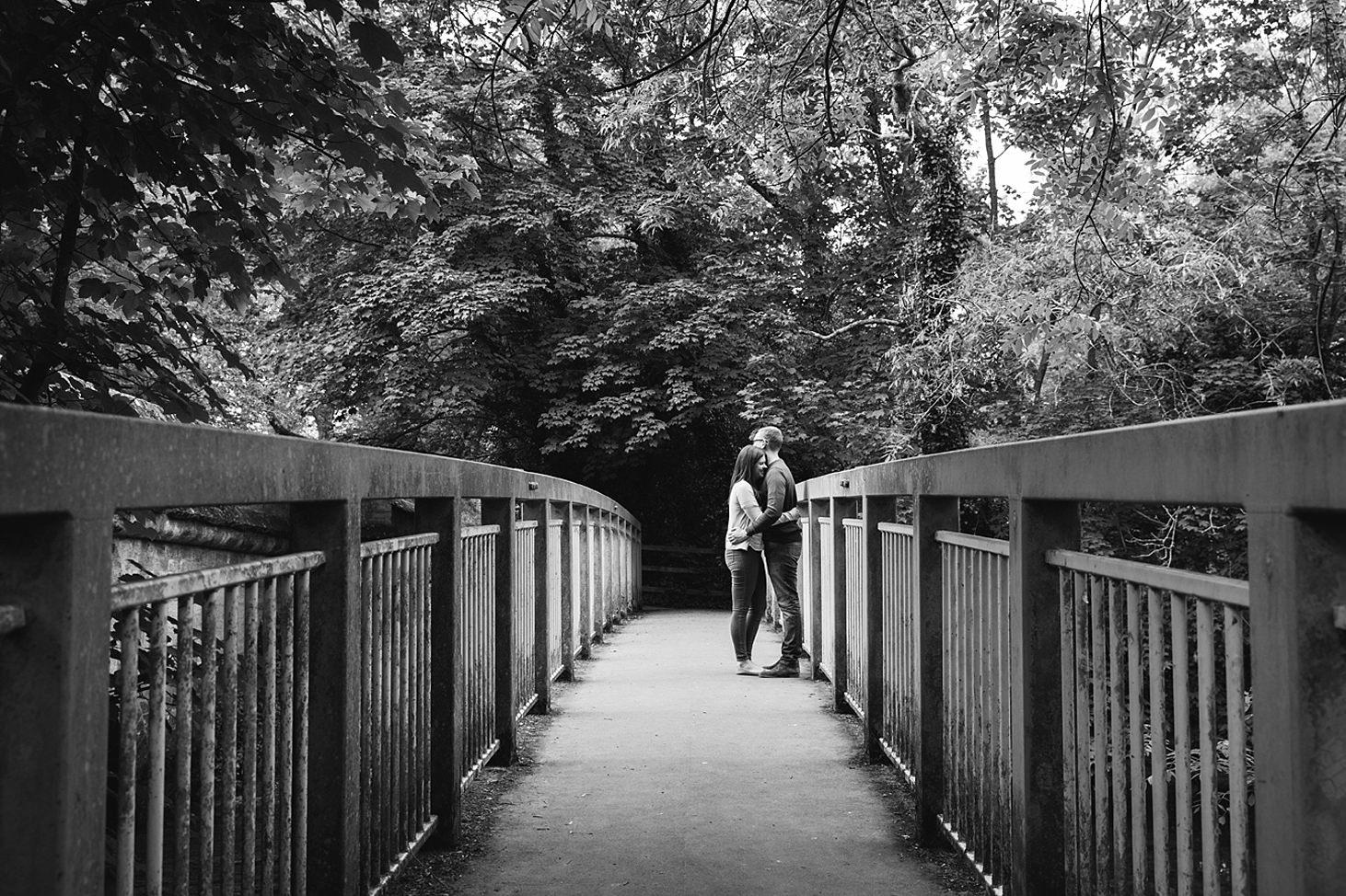 arundel engagement shoot black and white bridge
