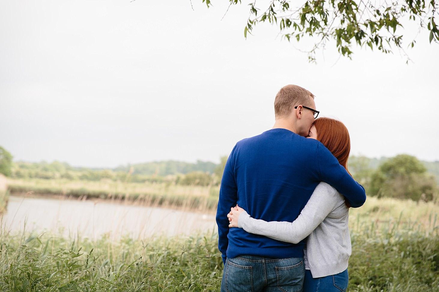 arundel engagement shoot couple hugging