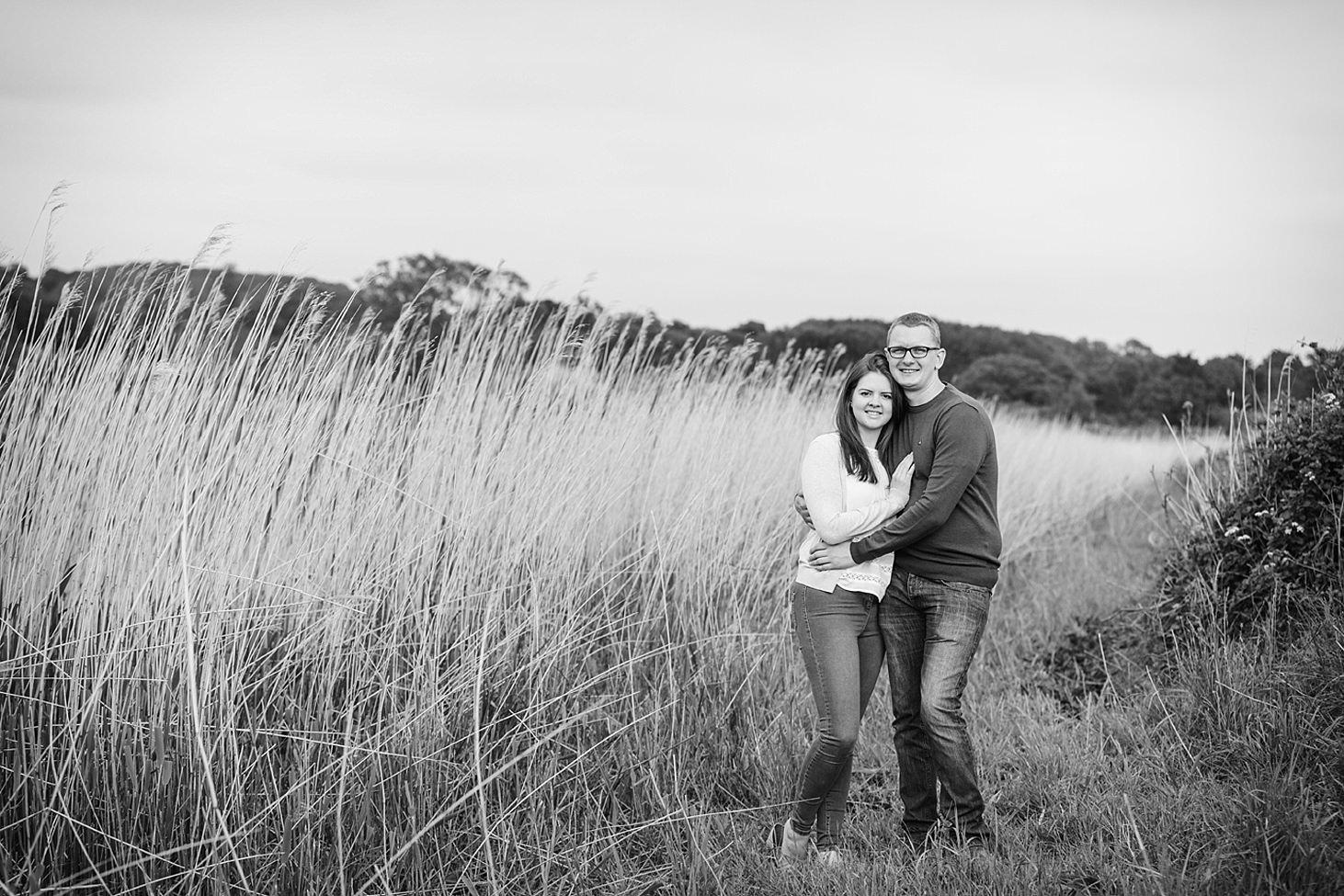 arundel engagement shoot big grass portrait