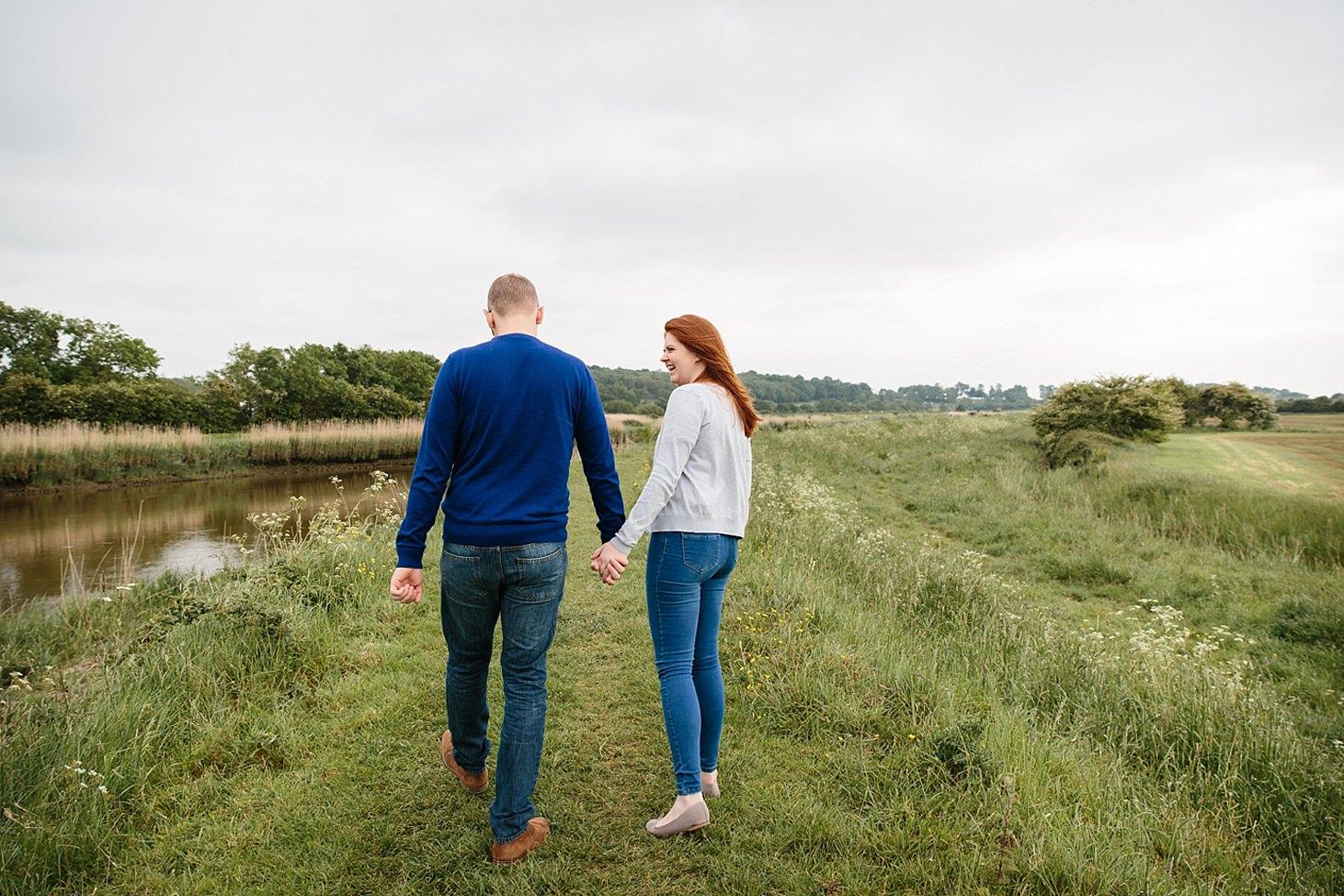 arundel engagement shoot couple walking