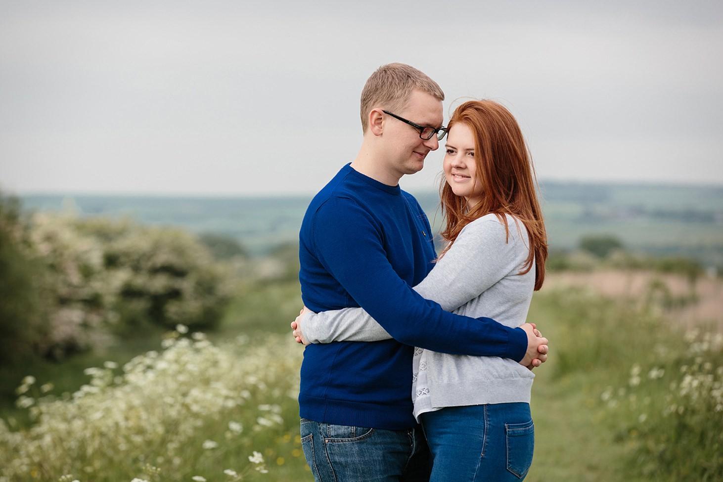 arundel engagement shoot hugging couple