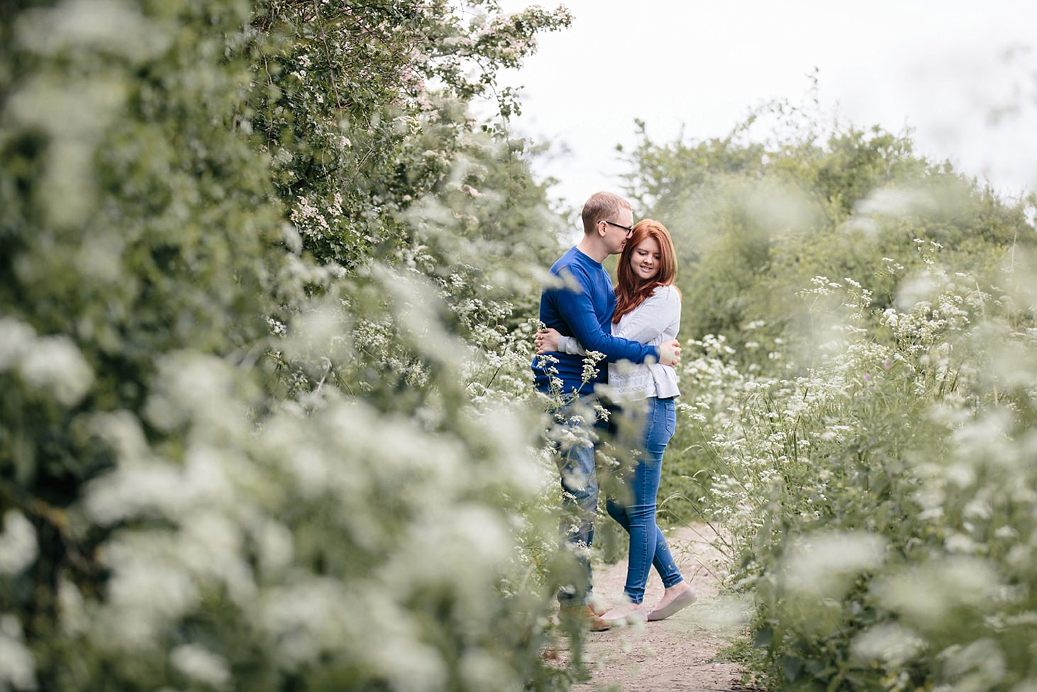 arundel engagement shoot couple in flowers