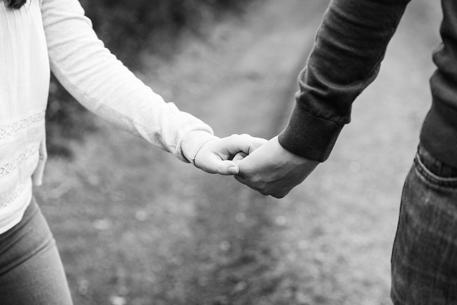 arundel engagement shoot couple holding hands