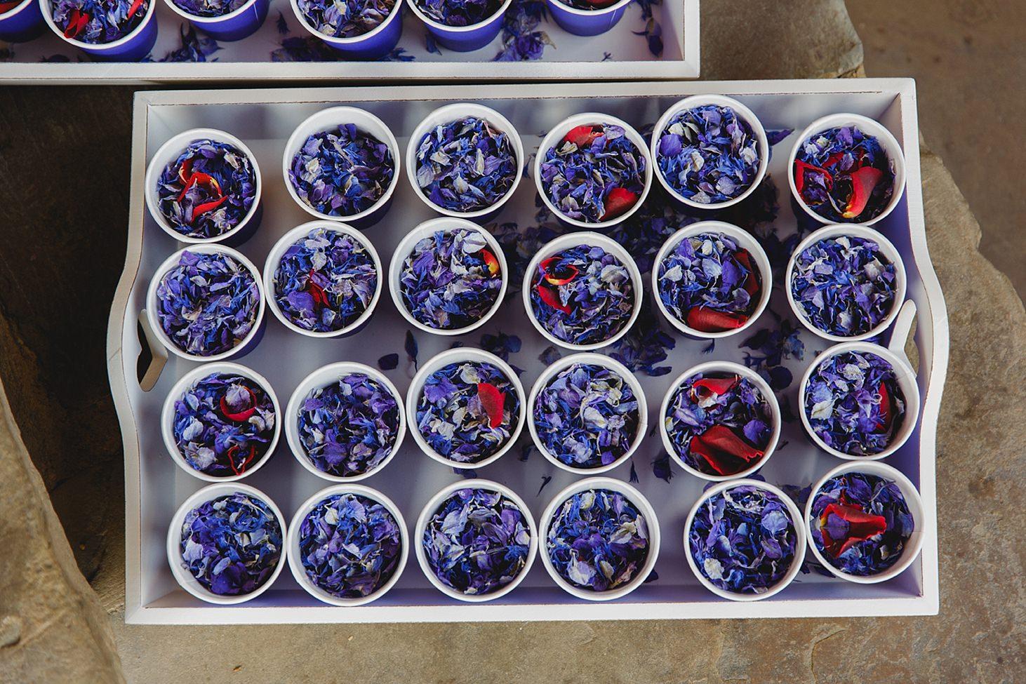 gate street barn wedding photography confetti in cups
