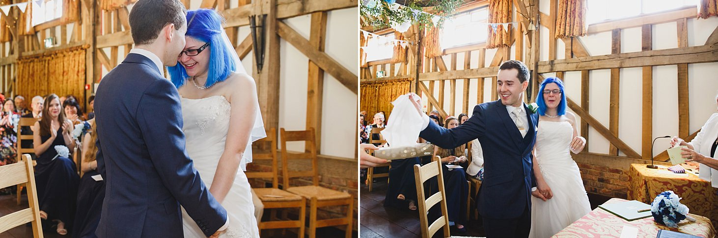gate street barn wedding photography bride crying