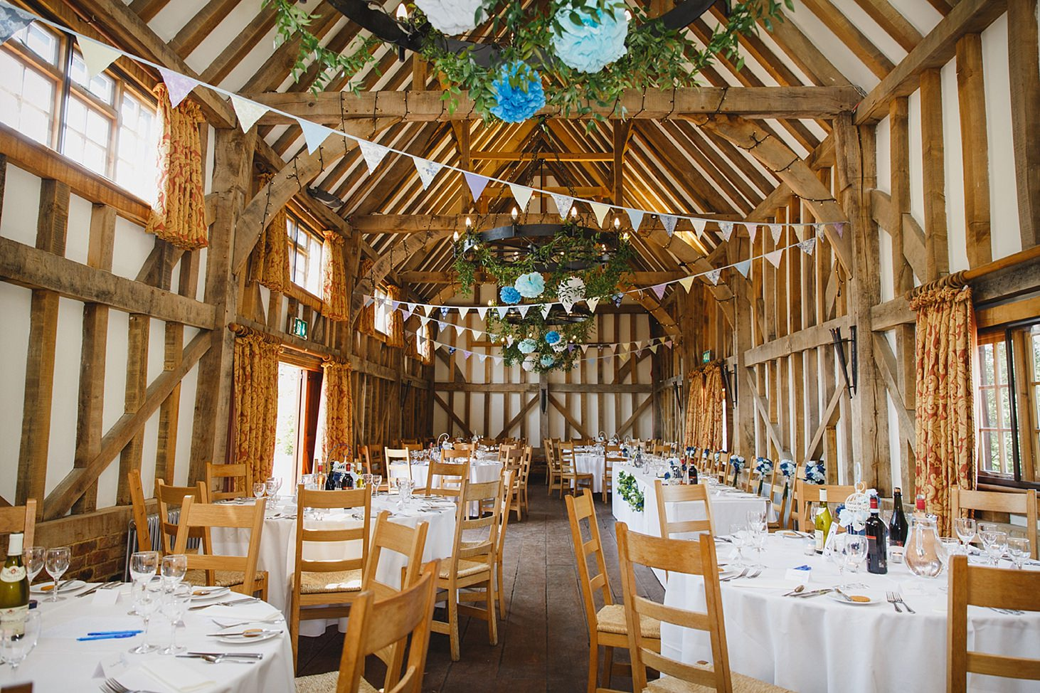 gate street barn wedding photography decorated interior