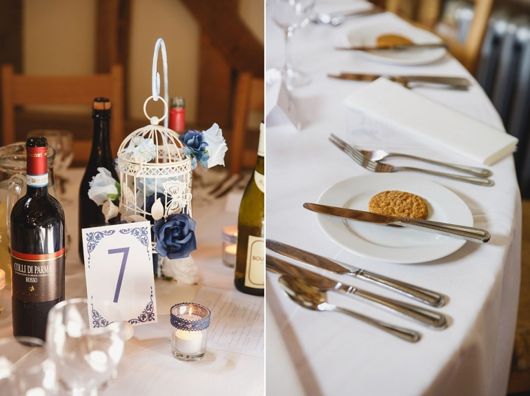gate street barn wedding photography table decor and biscuits