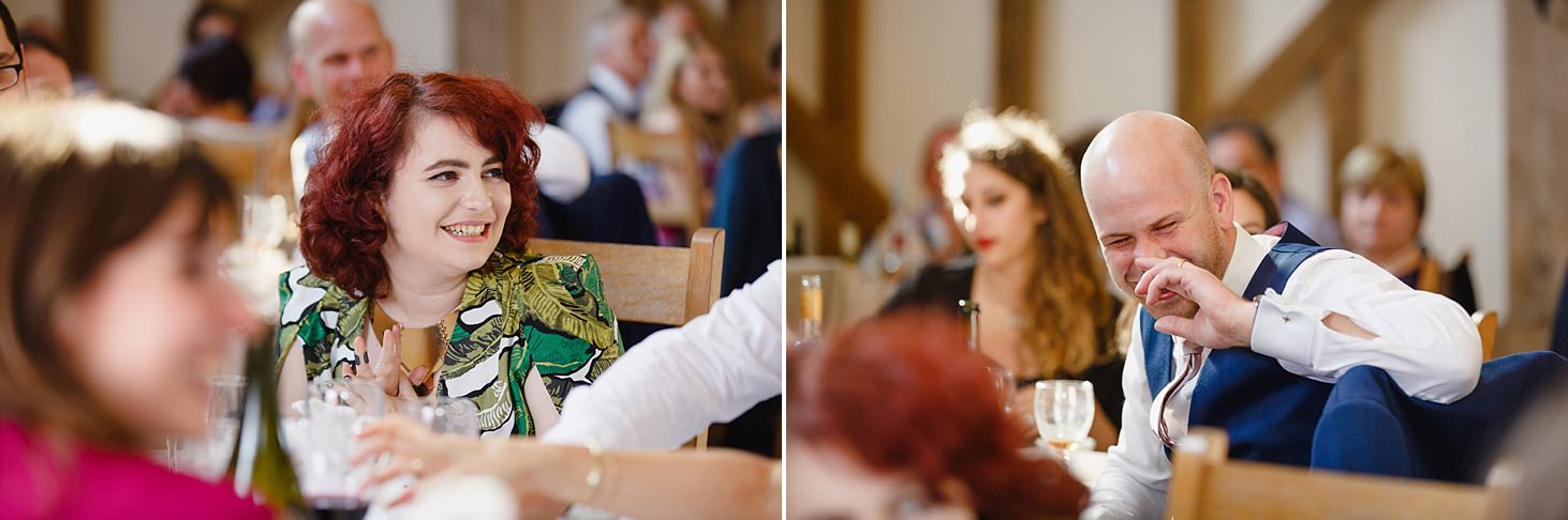 gate street barn wedding photography wedding guests at dinner