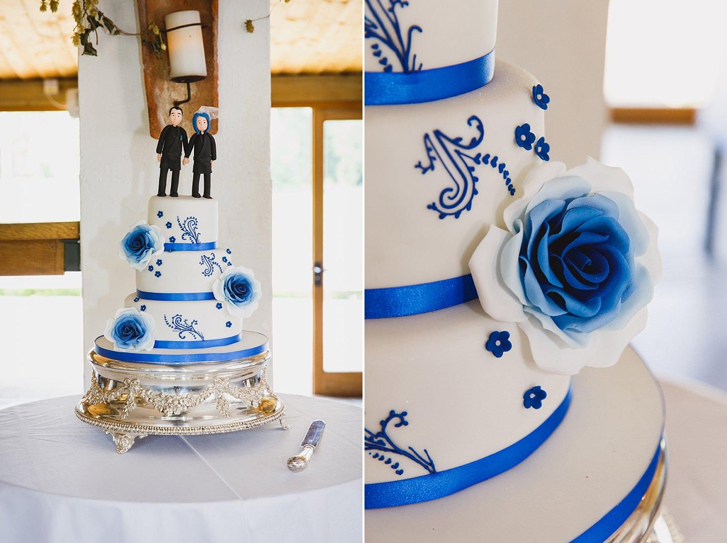 gate street barn wedding photography wedding cake with ninjas on top at gate street barn wedding