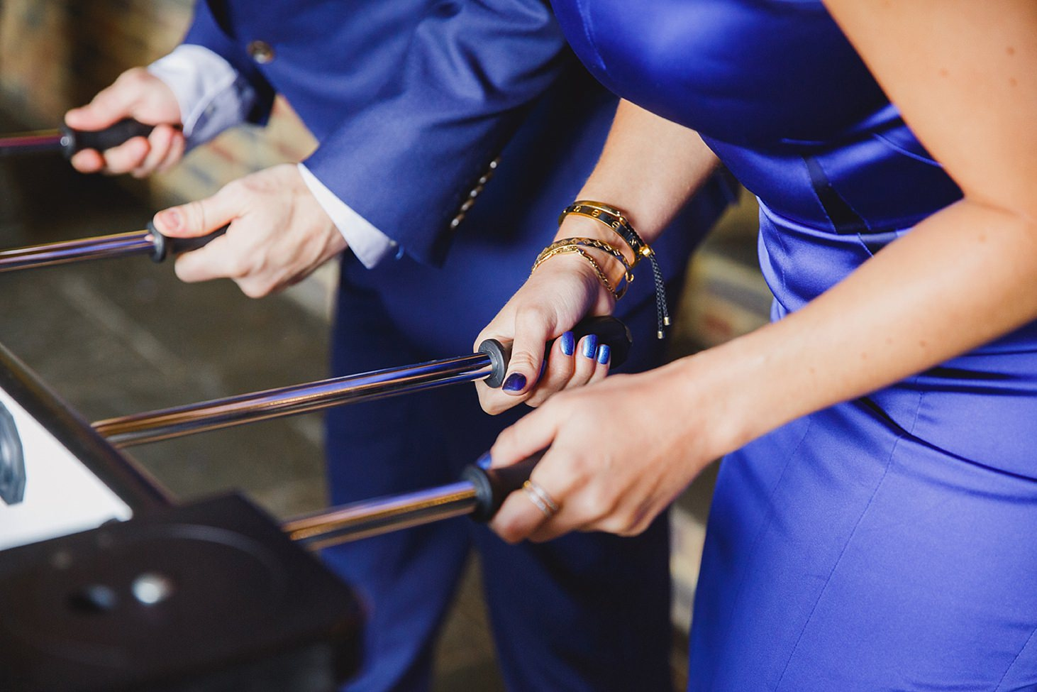 gate street barn wedding photography guests table football