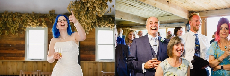 gate street barn wedding photography guests during speeches