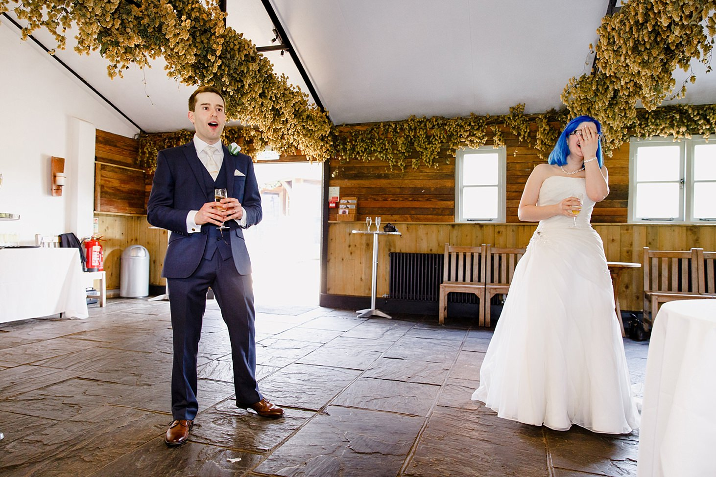 gate street barn wedding photography groom giving a speech