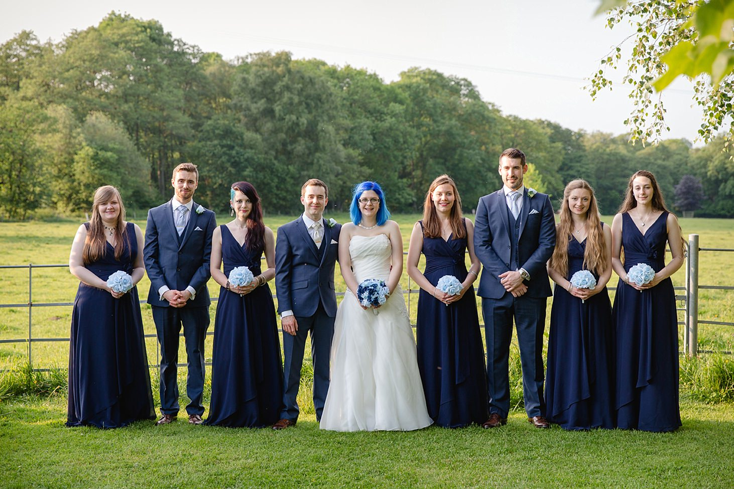 gate street barn wedding photography bridal party portrait