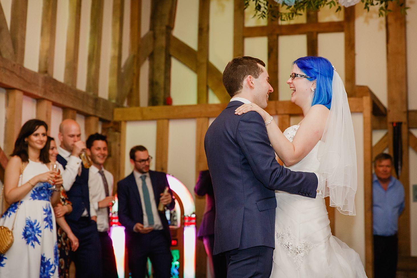 gate street barn wedding photography bride and groom dance
