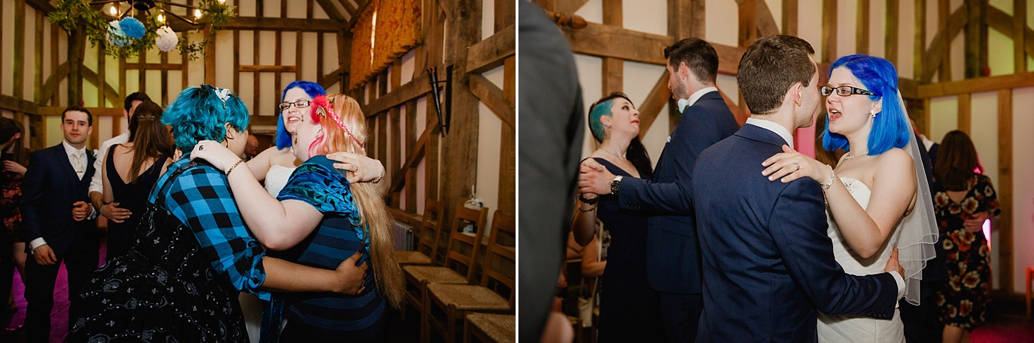 gate street barn wedding photography guests dancing