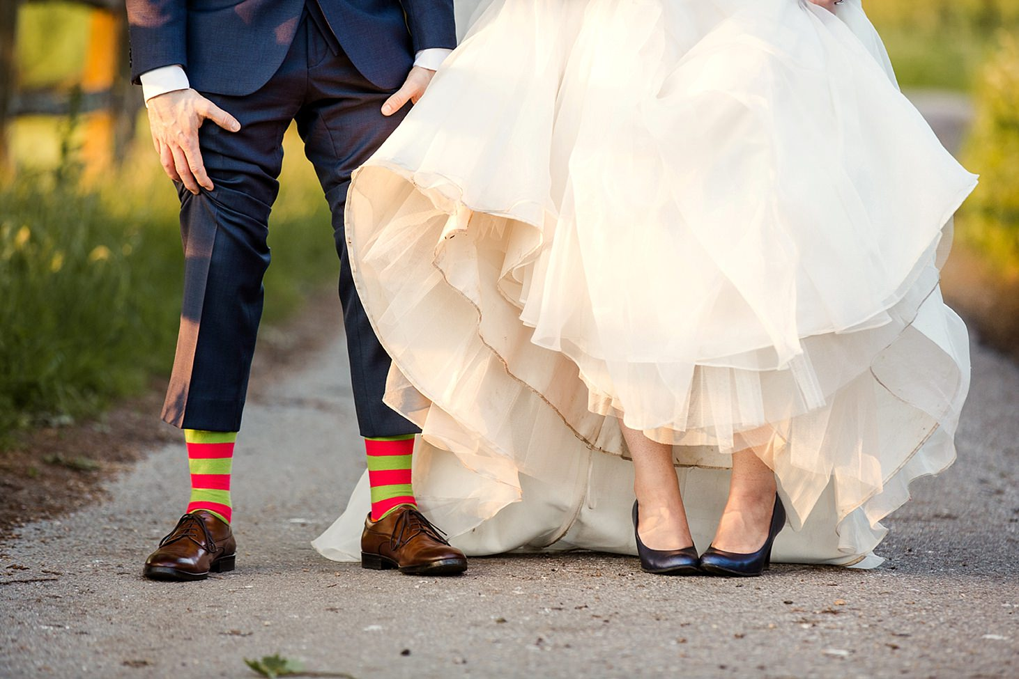 gate street barn wedding photography bride and groom shoes