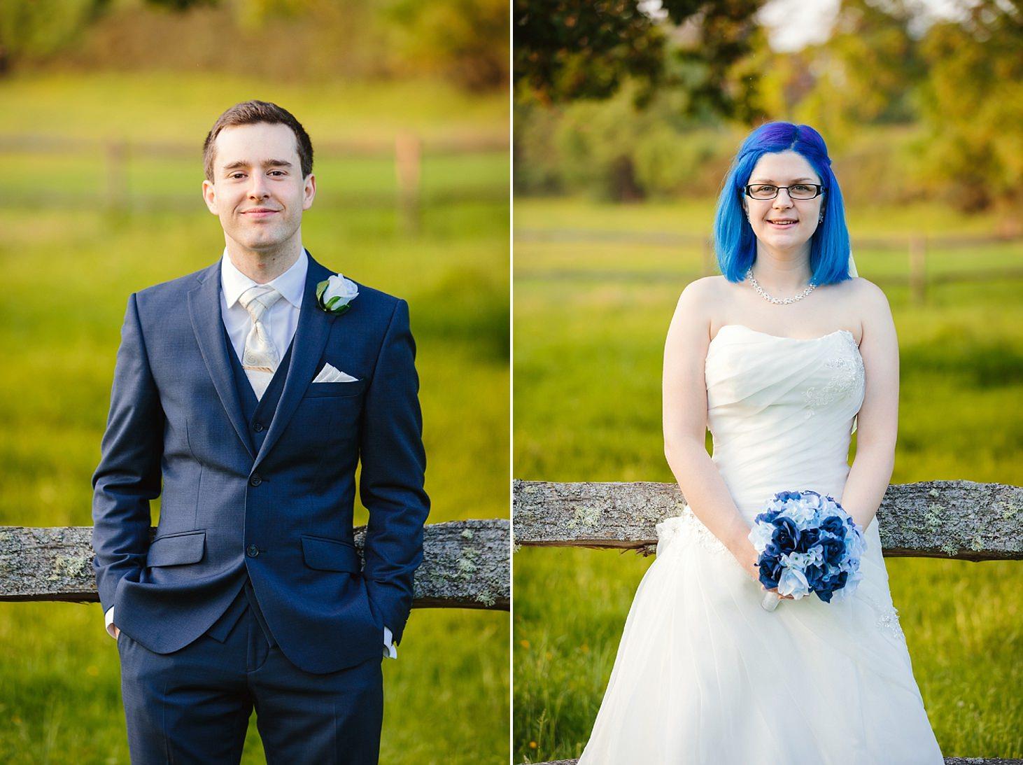 gate street barn wedding photography bride and groom single portrait