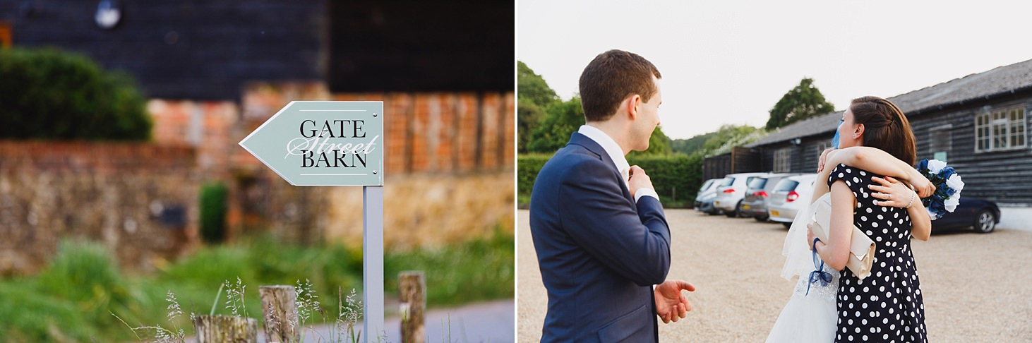 gate street barn wedding photography gate street barn sign