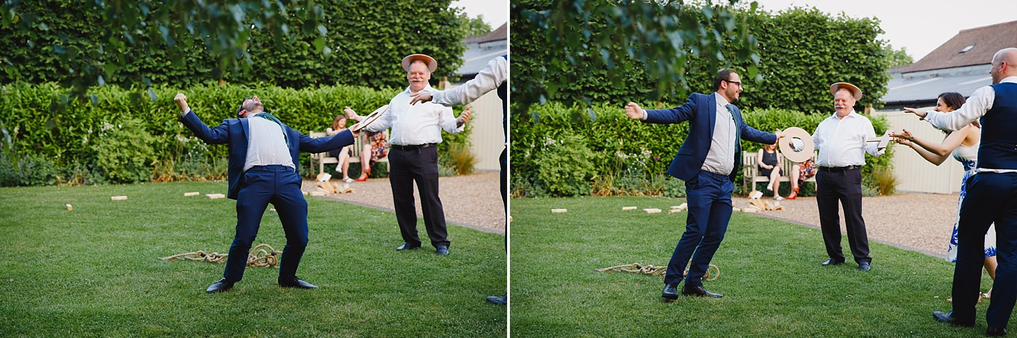 gate street barn wedding photography guests and lawn games