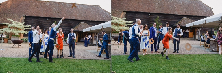 gate street barn wedding photography guests and games
