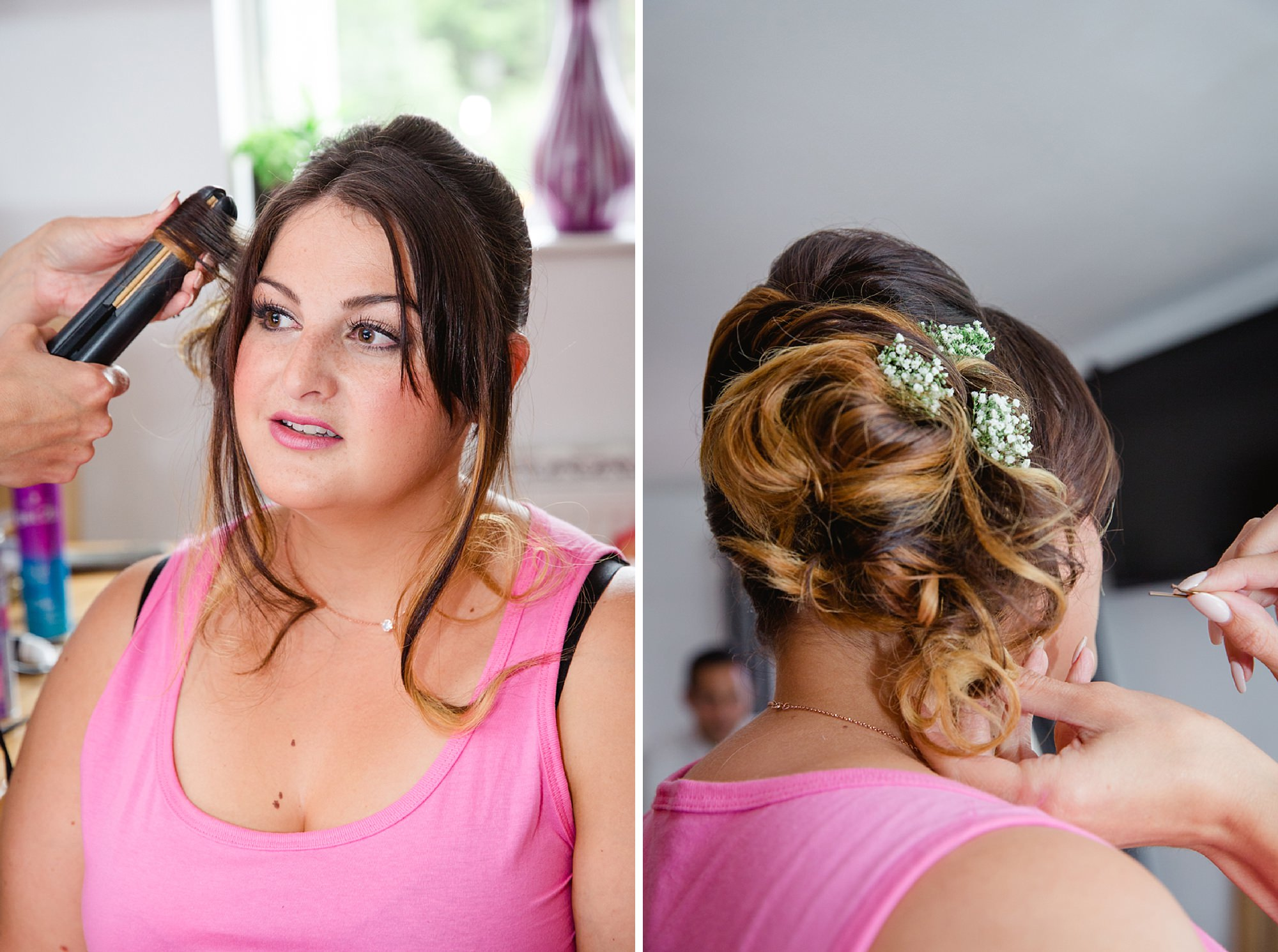 Bignor Park wedding photography bridesmaids hair