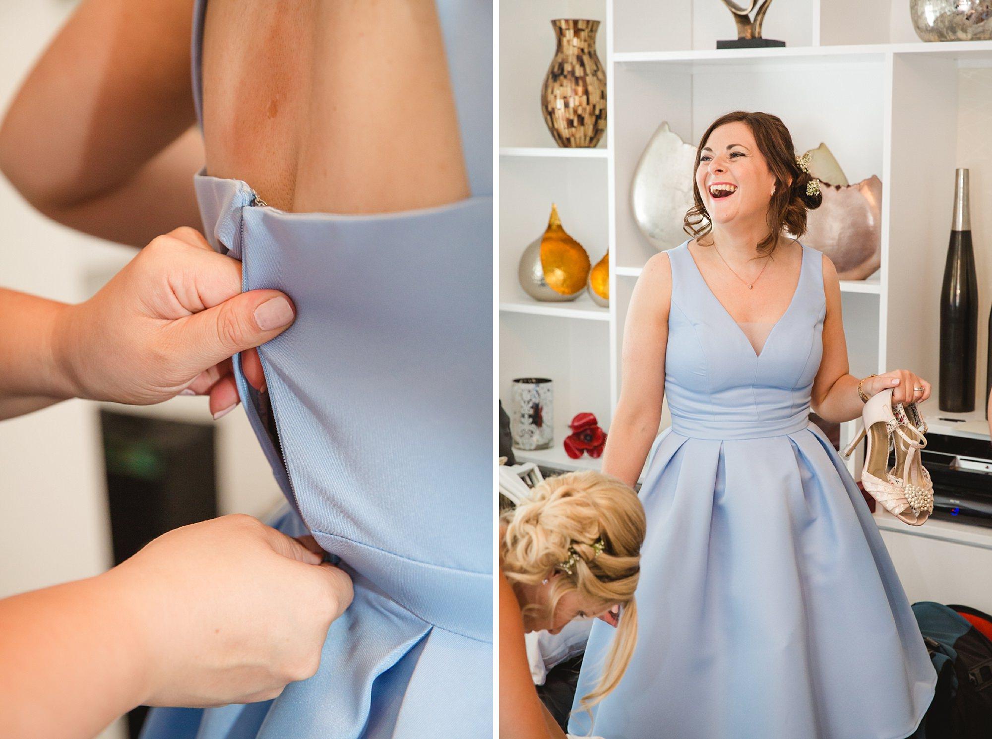 Bignor Park wedding photography bridesmaids getting ready