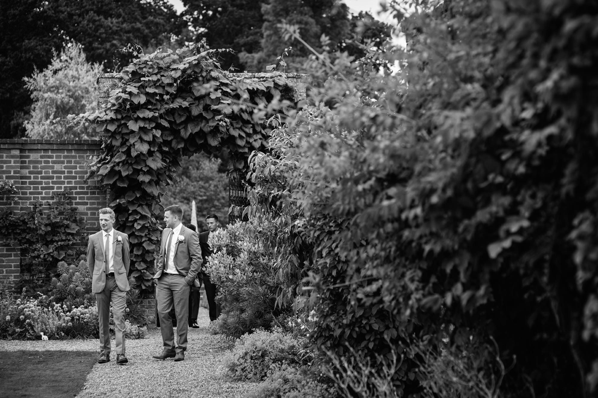Bignor Park wedding photography groomsmen