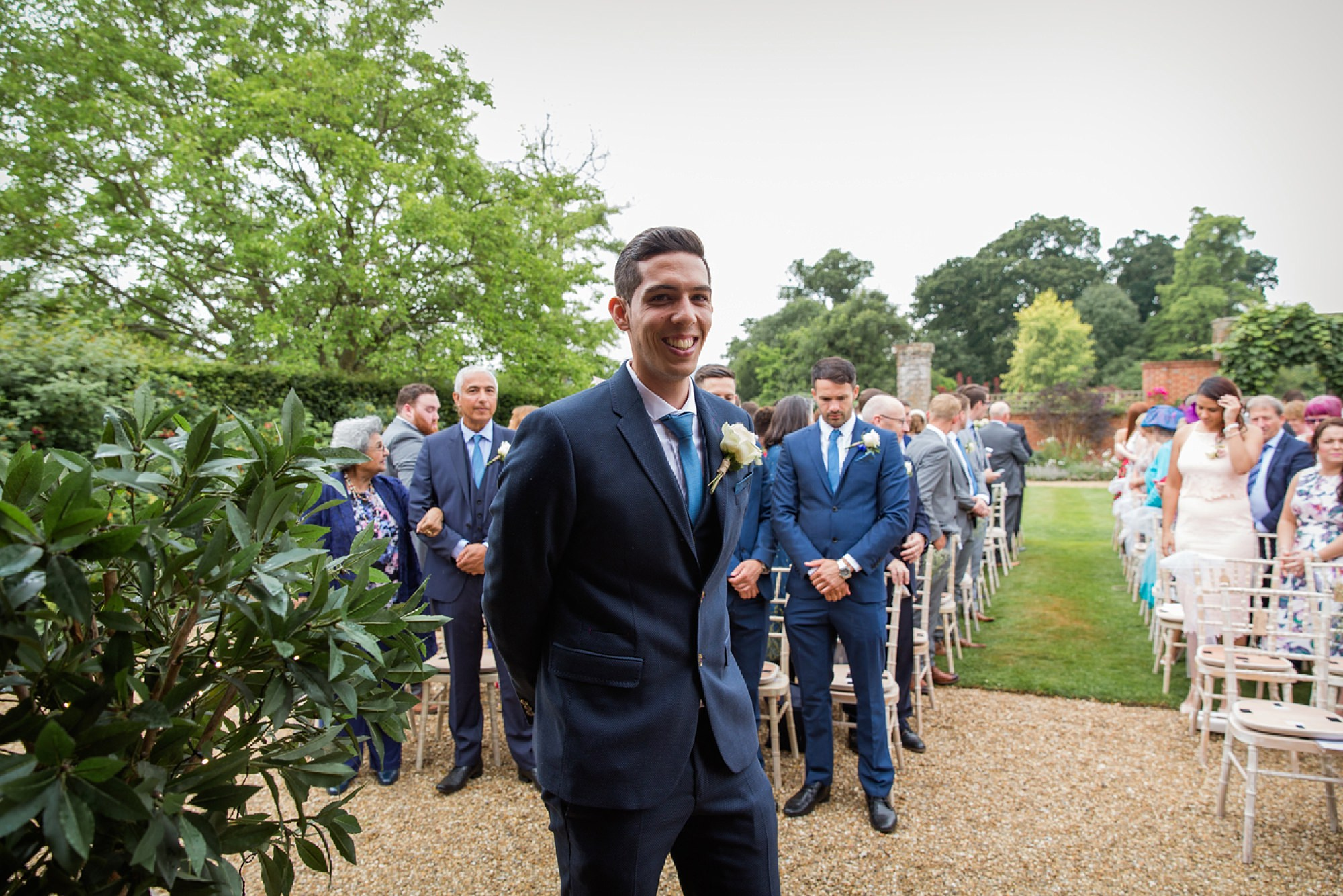 Bignor Park wedding photography groom