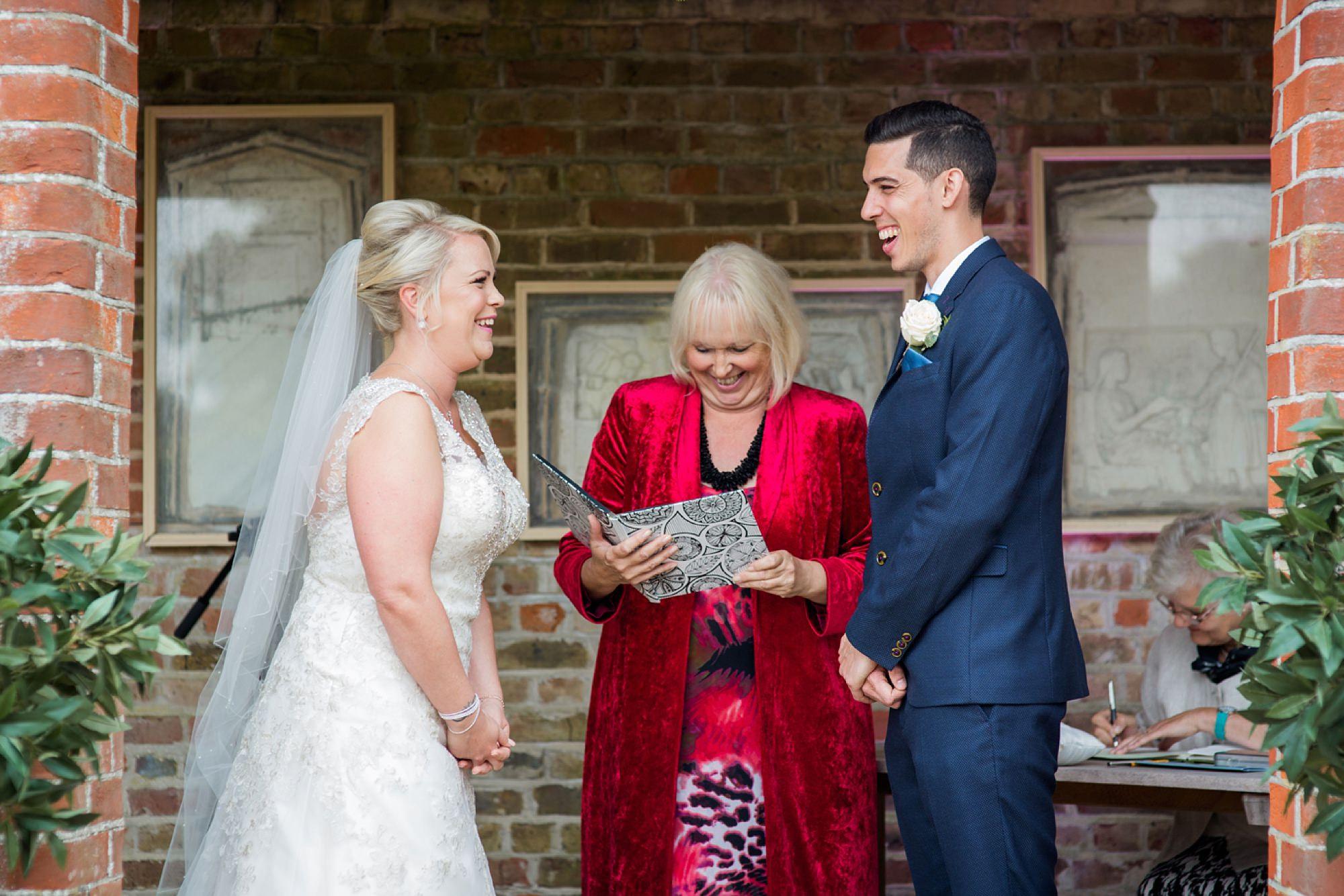 Bignor Park wedding photography bride and groom