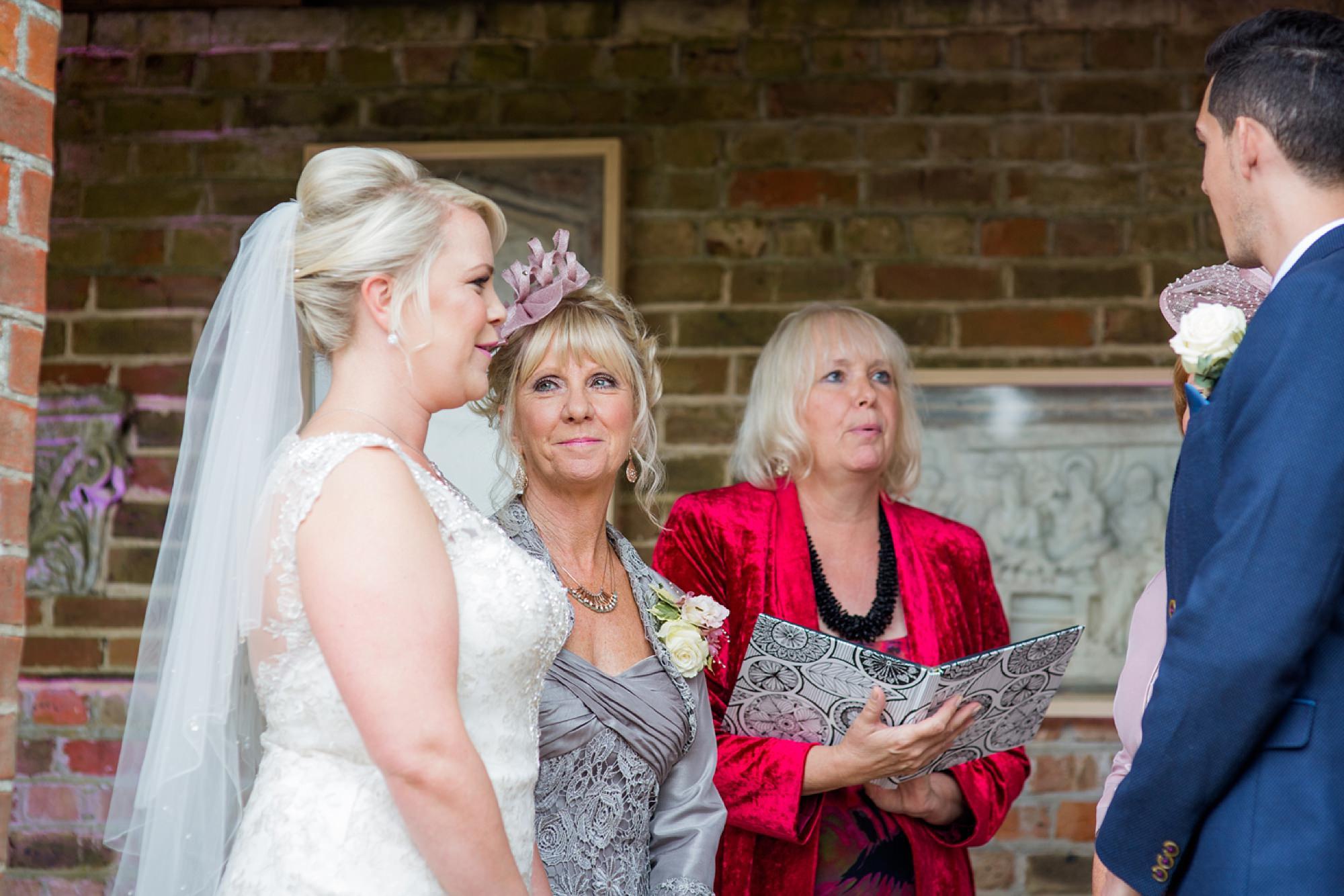 Bignor Park wedding photography bride with her mum