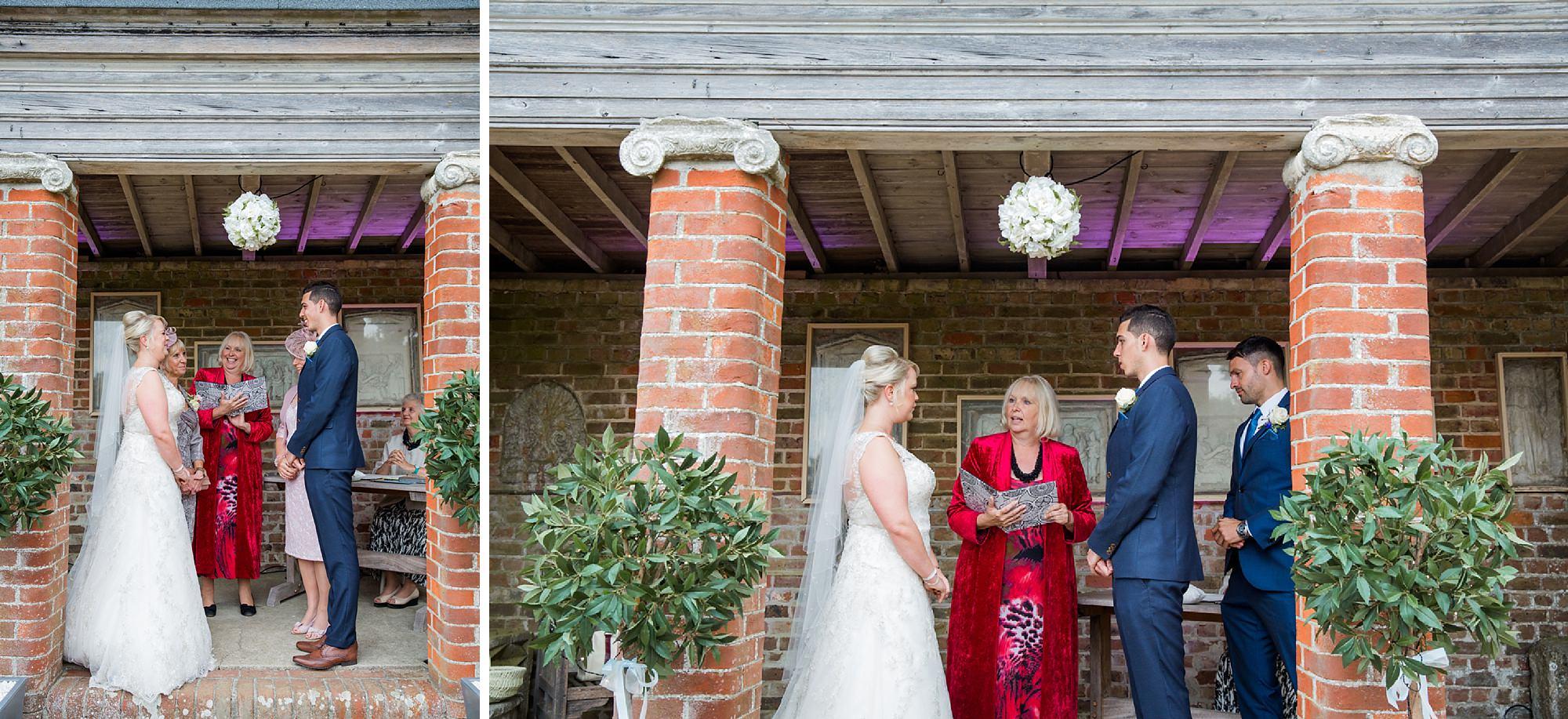 Bignor Park wedding photography exchange of rings