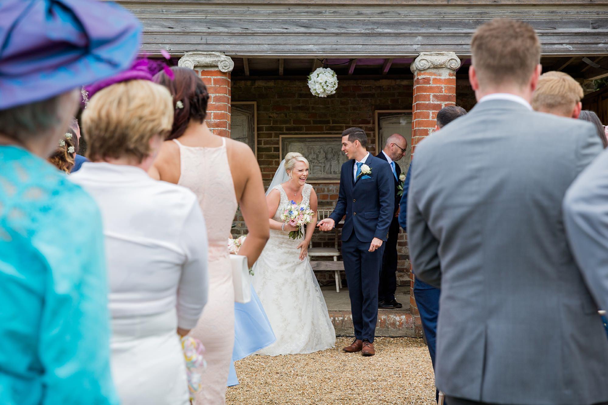 Bignor Park wedding photography bride and groom after ceremony