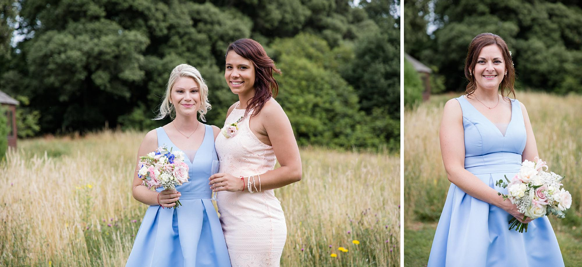 Bignor Park wedding photography bridesmaids