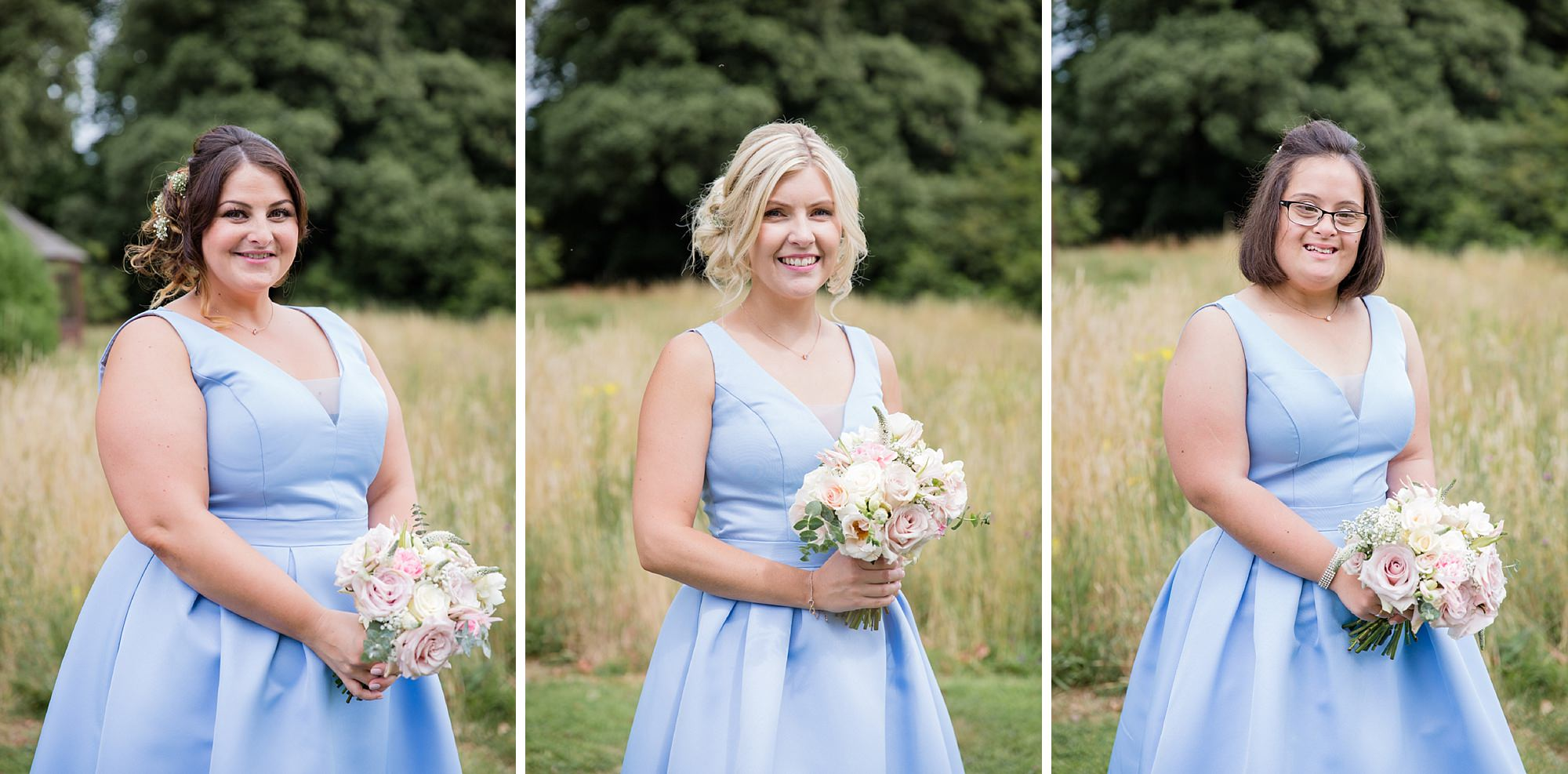 Bignor Park wedding photography bridesmaids portrait