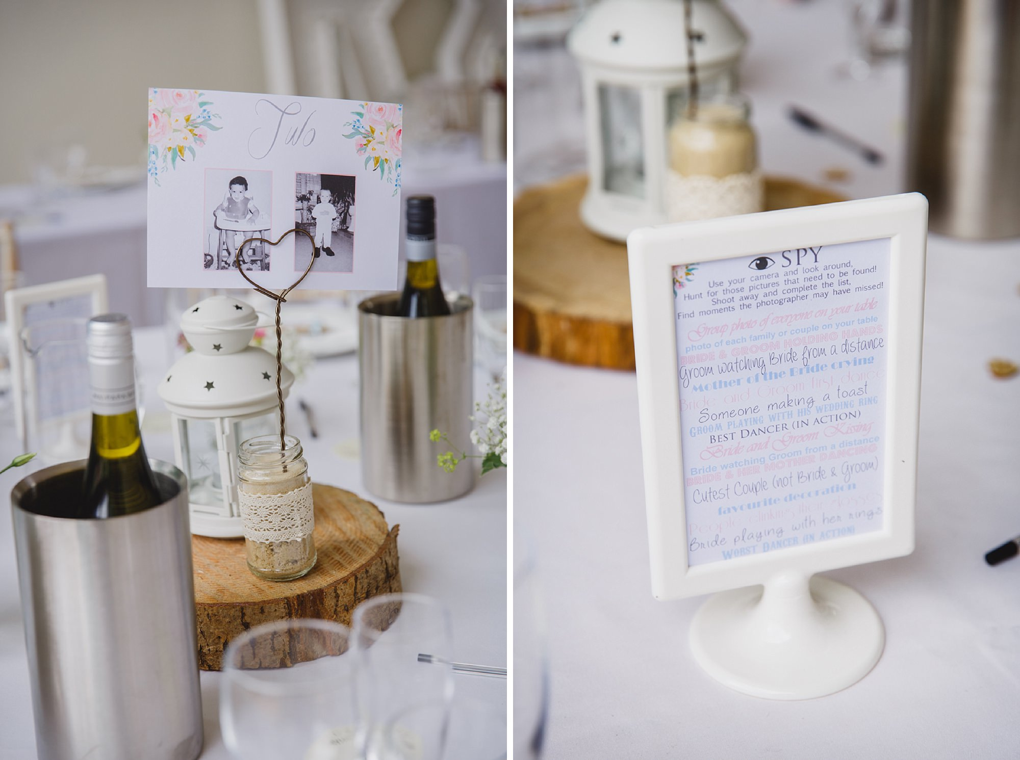 Bignor Park wedding photography table decoration