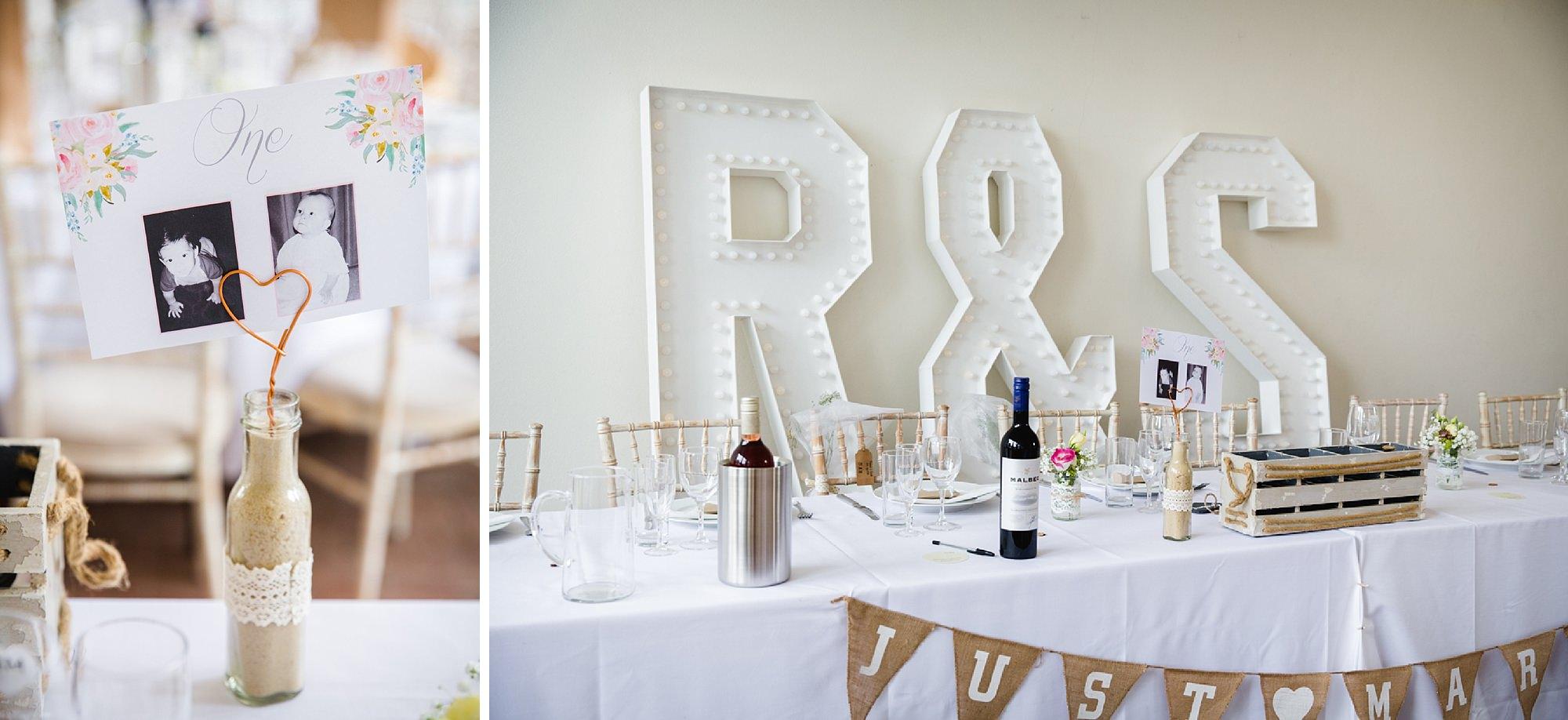 Bignor Park wedding photography head table