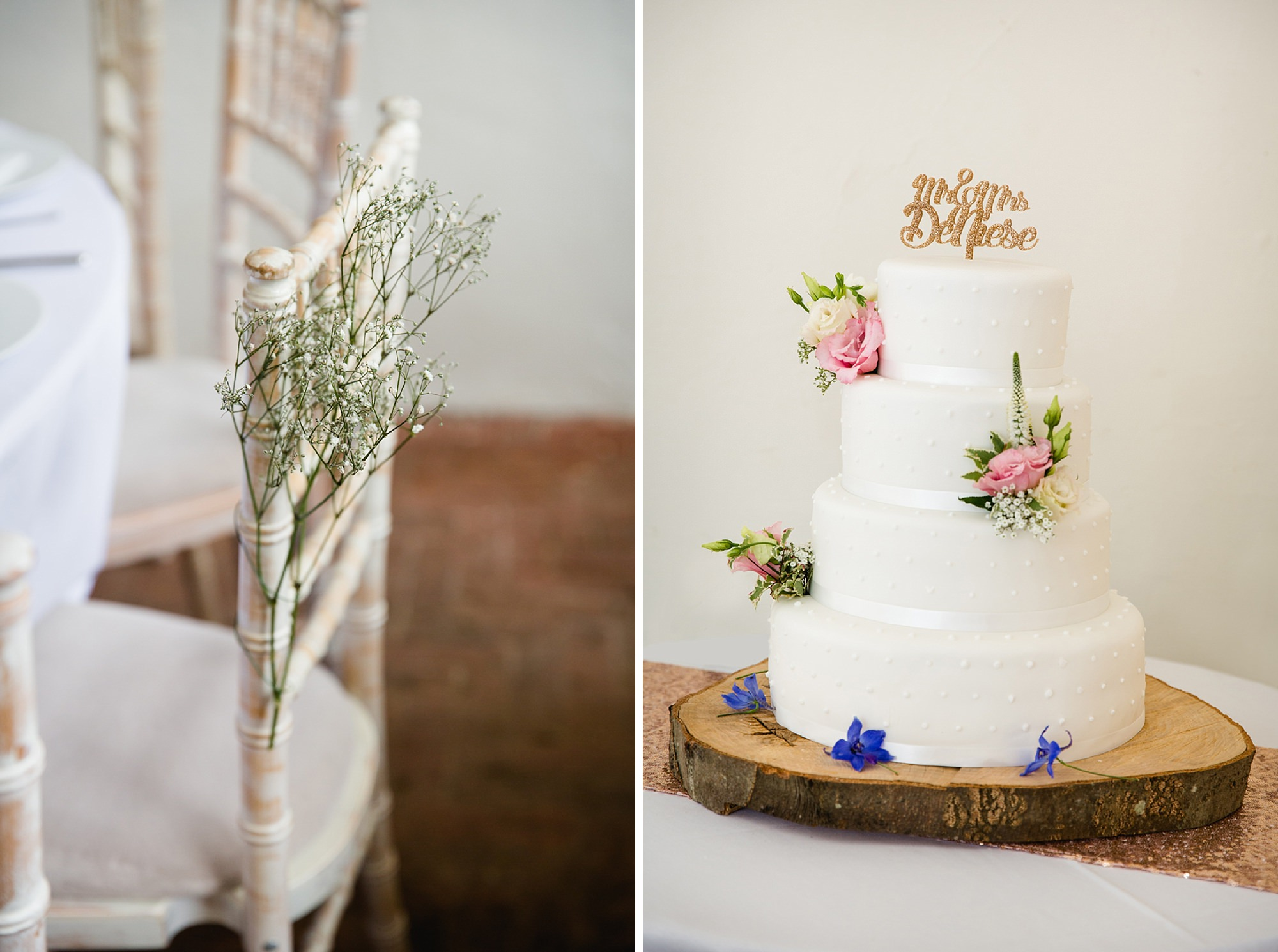 Bignor Park wedding photography wedding cake