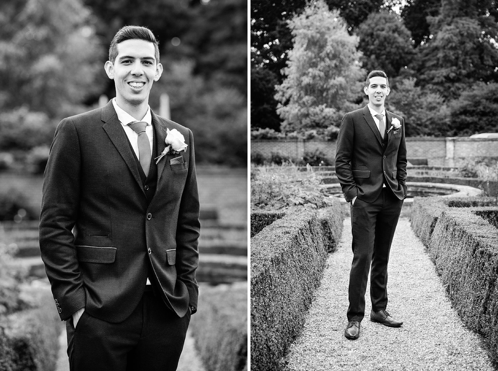 Bignor Park wedding photography groom portrait