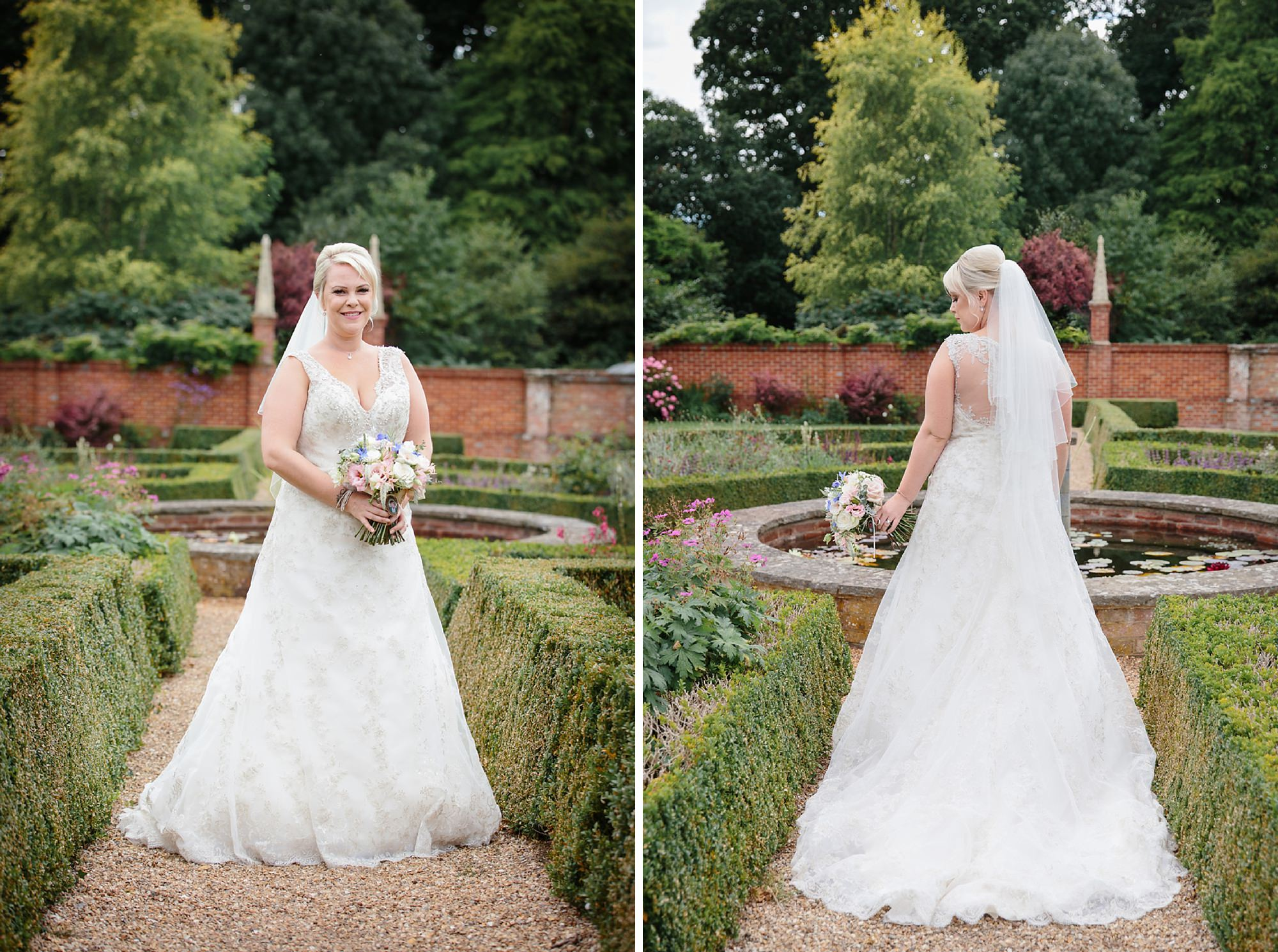 Bignor Park wedding photography portrait of bride