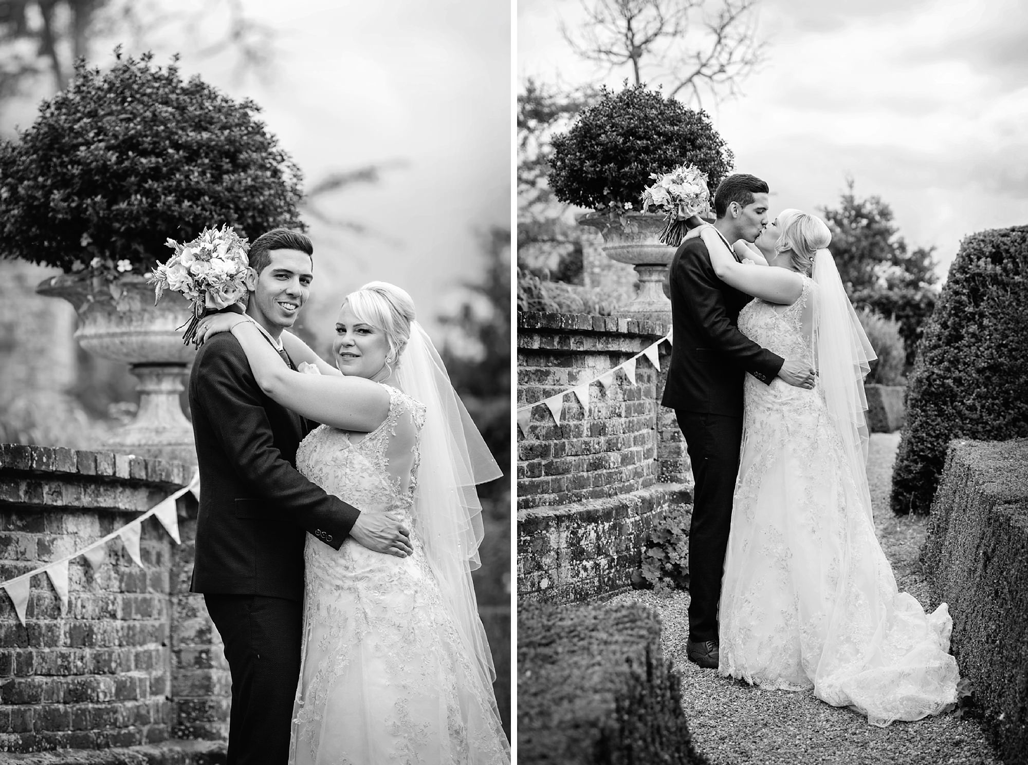 Bignor Park wedding photography black and white bridal portraits