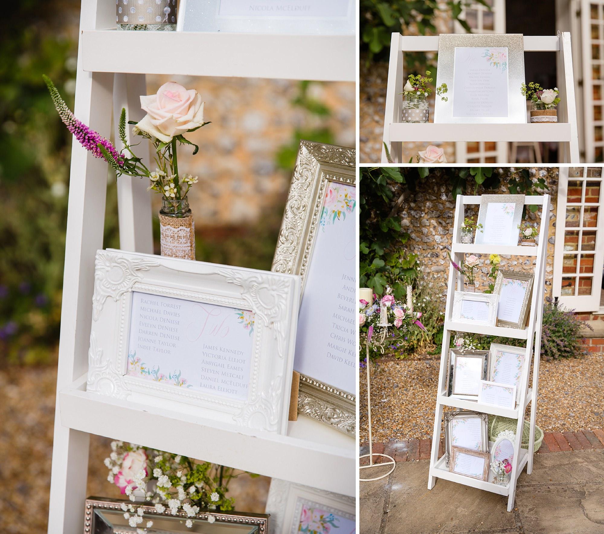 Bignor Park wedding photography table plan