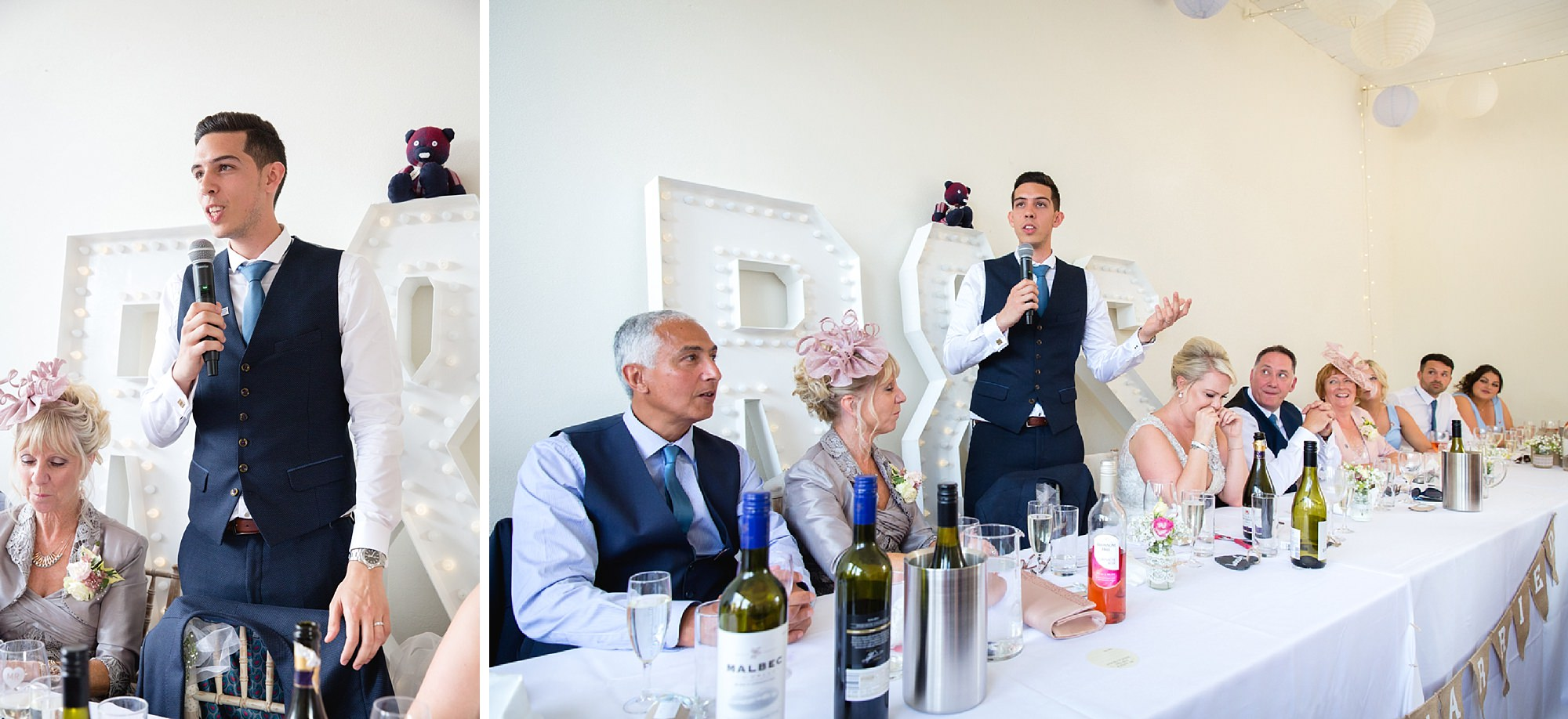 Bignor Park wedding photography groom speech