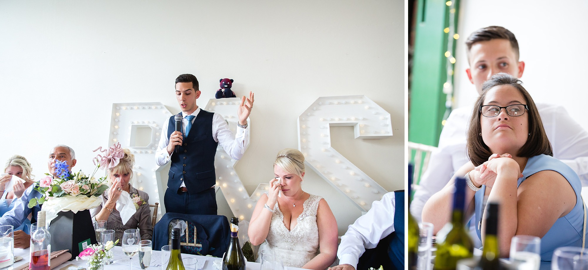Bignor Park wedding photography groom's speech