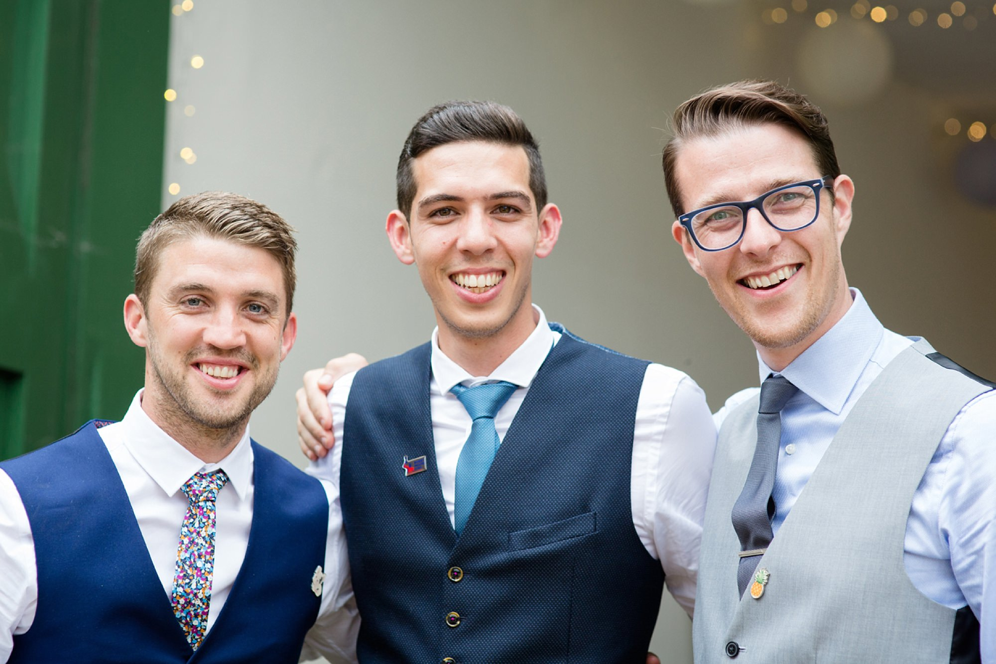 Bignor Park wedding photography from and groomsmen together