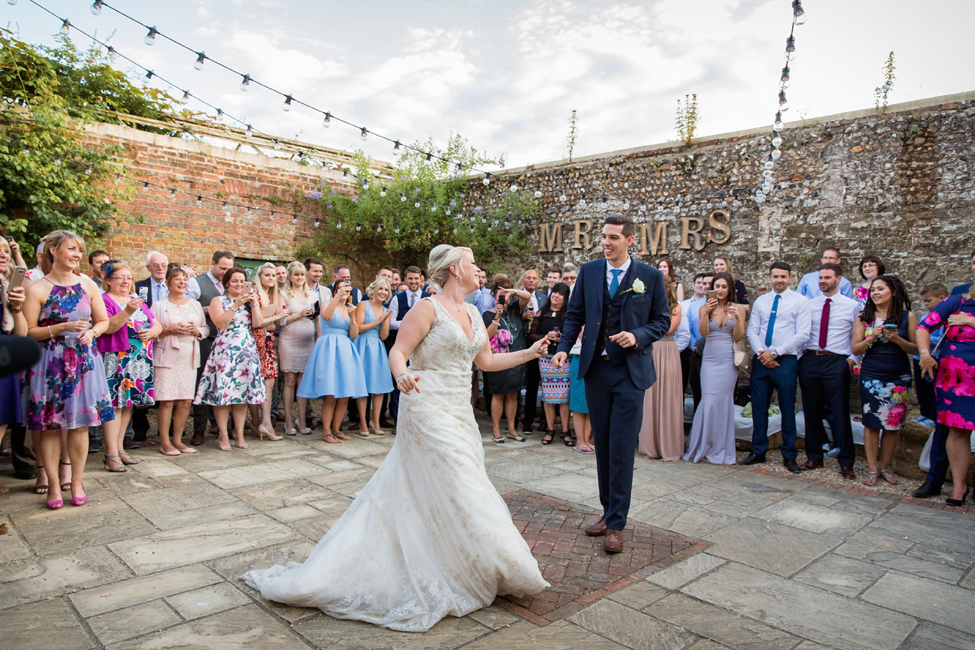 Bignor Park wedding photography outdoor first dance